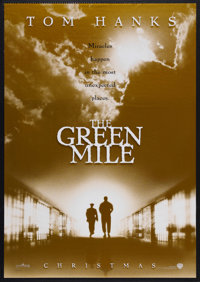 """The Green Mile (Warner Brothers, 1999). One Sheet (27"""" X 40"""") Double Sided Advance. Drama. Starring Tom Hanks..."""