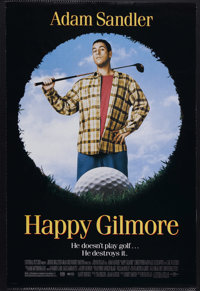 """Happy Gilmore (Universal, 1996). One Sheet (27"""" X 41"""") Double Sided. Comedy. Starring Adam Sandler, Chris McDo..."""