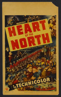 "Movie Posters:Adventure, Heart of the North (Warner Brothers, 1938). Midget Window Card (8""X 14""). Action Adventure. Starring Dick Foran, Gloria Dic..."