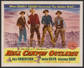 """Movie Posters:Western, Hell Canyon Outlaws (Republic Pictures Corporation, 1957). Half Sheet (22"""" X 28""""). Wester. Starring Dale Robertson, Brian Ke..."""