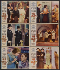 """His Double Life (Paramount, 1933). Lobby Cards (6) (11"""" X 14""""). Comedy. Starring Roland Young, Lillian Gish, M..."""