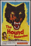 """Movie Posters:Crime, The Hound of the Baskervilles (United Artists, 1959). One Sheet(27"""" X 41""""). Horror Mystery. Starring Peter Cushing as Sherl..."""