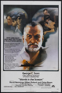 "Islands in the Stream (Paramount, 1977). One Sheet (27"" X 41""). Drama. Starring George C. Scott, David Hemming..."