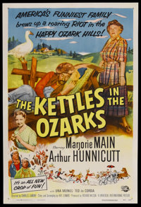 """The Kettles in the Ozarks (Universal International, 1956). One Sheet (27"""" X 41""""). Comedy. Starring Marjorie Ma..."""