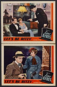 """Let's Be Ritzy (Universal, 1934). Lobby Cards (2) (11"""" X 14""""). Comedy. Starring Lew Ayres, Patricia Ellis, Isa..."""