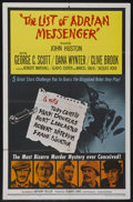 "Movie Posters:Mystery, The List of Adrian Messenger (Universal, 1963). One Sheet (27"" X 41""). Mystery. Starring George C. Scott, Robert Mitchum, To..."