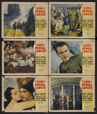 """The Lives of a Bengal Lancer (Paramount, 1935). Lobby Cards (6) (11"""" X 14""""). Adventure. Starring Gary Cooper..."""
