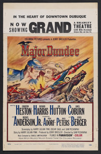 "Major Dundee (Columbia, 1965). Window Card (14"" X 17.5""). Western. Starring Charlton Heston, Richard Harris, J..."
