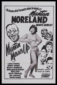 """Mantan Messes Up (Toddy Pictures, 1946). One Sheet (27"""" X 41""""). Musical Comedy. Starring Mantan Moreland, Lena..."""