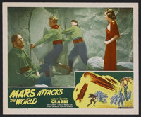 """Mars Attacks the World (Filmcraft, R-1950). Lobby Card (11"""" X 14""""). Sci-Fi Action. Starring Buster Crabbe, Jea..."""