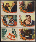 """Movie Posters:Film Noir, The Mask of Dimitrios (Warner Brothers, 1944). Title Lobby Card (11"""" X 14"""") and Lobby Cards (5) (11"""" X 14""""). Film Noir. Star... (Total: 6 Items)"""