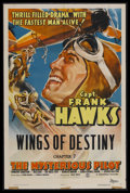 """Movie Posters:Serial, The Mysterious Pilot (Columbia, 1937). One Sheet (27"""" X 41"""") Chapter 7 -- """"Wings of Destiny."""" Action Serial. Starring Frank ..."""