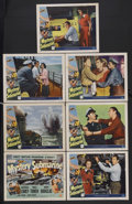 "Movie Posters:Adventure, Mystery Submarine (Universal International, 1963). Title Lobby Card(11"" X 14"") and Lobby Cards (6) (11"" X 14""). War Thrille... (Total:7 Items)"