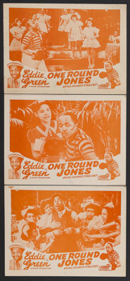 "One Round Jones (Toddy Pictures, R-1946). Lobby Cards (3) (11"" X 14""). Sports Comedy. Little is known about th..."