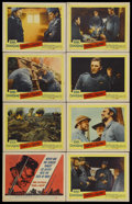 """Movie Posters:War, Paths of Glory (United Artists, 1958). Lobby Card Set of 8 (11"""" X14""""). War. Starring Kirk Douglas, Ralph Meeker, Adolphe Me...(Total: 8 Items)"""