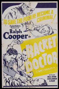 "Racket Doctor (Toddy Pictures, R-1940s). One Sheet (27"" X 41""). Originally released as ""Am I Guilty""..."