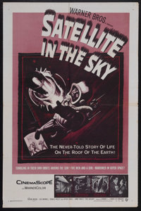 "Satellite In The Sky (Warner Brothers, 1956). One Sheet (27"" X 41""). Science Fiction. Starring Kieron Moore, L..."