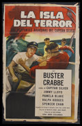 "Movie Posters:Adventure, The Sea Hound (Columbia, 1947). Spanish Language One Sheet (27"" X41""). Adventure Serial. Starring Buster Crabbe, Jimmy Lloy..."