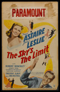 """Movie Posters:Musical, The Sky's the Limit (RKO, 1943). Window Card (14"""" X 22""""). Musical Comedy. Starring Fred Astaire, Joan Leslie, Robert Benchle..."""