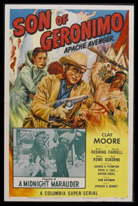 """Son of Geronimo: Apache Avenger- Chapter 11: A Midnight Marauder (Columbia, 1952). One Sheet (27"""" X 41""""). West..."""