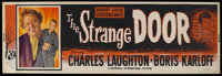 "The Strange Door (Universal, 1951). Banner (24"" X 82""). Horror. Starring Charles Laughton, Boris Karloff, Sall..."