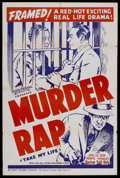 """Movie Posters:Drama, Take My Life (Toddy Pictures, R-1940s). One Sheet (27"""" X 41""""). Re-released as """"Murder Rap."""" War. Directed by Harry M. Popkin..."""