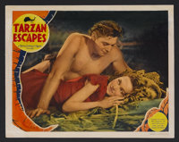 """Tarzan Escapes (MGM, 1936). Lobby Card (11"""" X 14""""). Action Adventure. Starring Johnny Weissmuller, Maureen O'S..."""