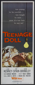 "Movie Posters:Bad Girl, Teenage Doll (Allied Artists, 1957). Insert (14"" X 36""). Crime.Starring June Kenney, Fay Spain, John Brinkley, Colette Jack..."