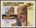 "Movie Posters:Horror, The Werewolf (Columbia, 1956). Half Sheet (22"" X 28"") Style B. Horror. Starring Steven Ritch, Don Megowan, Joyce Holden, Ele..."