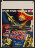 "Movie Posters:Science Fiction, When Worlds Collide (Paramount, 1951). Belgian (13.75"" X 19.5"").Sci-Fi Thriller. Starring Richard Derr, Barbara Rush, Peter..."