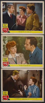 """Without Love (MGM, 1945). Lobby Cards (3) (11"""" X 14""""). Romantic Comedy. Starring Spencer Tracy, Katharine Hepb..."""