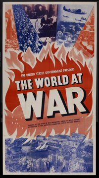 """The World at War (War Activities Committee, 1942). Three Sheet (41"""" X 81"""") Style A. Documentary. Narrated by P..."""