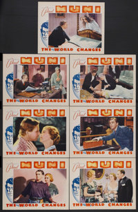"The World Changes (Warner Brothers, 1933). Lobby Cards (7) (11"" X 14""). Drama. Starring Paul Muni, Aline MacMa..."