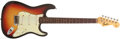 Musical Instruments:Electric Guitars, 1964 Fender Stratocaster Sunburst Solid Body Electric Guitar,#L33585. ...