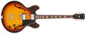 Musical Instruments:Electric Guitars, 1967 Gibson ES-335 Sunburst Semi-Hollow Body Electric Guitar,#113493....