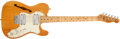 Musical Instruments:Electric Guitars, 1972 Fender Telecaster Thinline Natural Electric Guitar, #368653....