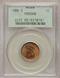 1908-S 1C MS65 Red and Brown PCGS....(PCGS# 2233)