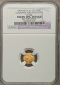 Expositions and Fairs, 1904 G50C Louisiana Purchase Expo 1/2 Louisiana Gold --Reverse Scratched-- NGC Details. Unc. MO Hendershott-61-330. 0.30gm....
