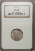 Liberty Nickels: , 1896 5C MS62 NGC. NGC Census: (36/198). PCGS Population (37/249).Mintage: 8,842,920. Numismedia Wsl. Price for problem fre...