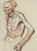 Mainstream Illustration, DEAN CORNWELL (American, 1892-1960). Skectch of an ElderlyMan. Pastel and charcoal on paper. 19.5 x 14.5 in.. Notsigne...