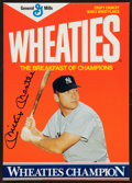 "Baseball Collectibles:Others, Mickey Mantle Signed ""Wheaties"" Box...."