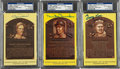 Baseball Collectibles:Others, Baseball Greats Signed Hall of Fame Postcards Lot of 3....