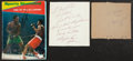 Boxing Collectibles:Autographs, Muhammad Ali, Joe Frazier and Sugar Ray Robinson Signed Lot of 3....