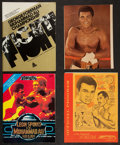 Boxing Collectibles:Autographs, Muhammad Ali Signed Photo and Unsigned Fight Programs Lot (4)....