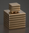 Silver Smalls:Other , A FRENCH GOLD PERFUME BOTTLE . Cartier, Paris, France, circa 1920. Marks: Cartier. 0-7/8 x 0-3/4 inches square (2.2 x 1....