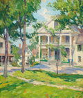 Fine Art - Painting, American:Modern  (1900 1949)  , PROPERTY FROM A PRIVATE COLLECTION, CALIFORNIA. MARY BRADISHTITCOMB (American, 1858-1927). Village Green . Oil on can...