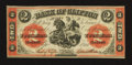 Canadian Currency: , Clifton, PC- Bank of Clifton $2 Sep. 1, 1861 Charlton 125-12-12....