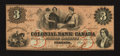 Canadian Currency: , Toronto, CW- Colonial Bank of Canada $3 May 4, 1859 Ch. #130-10-02-06R. ...