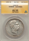 Coins of Hawaii: , 1883 $1 Hawaii Dollar--Cleaned--ANACS. AU53 Details. NGC Census: (13/135). PCGS Population (25/162). Mintage: 500,000. (#1...