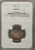 Seated Quarters, 1875 25C MS65+ NGC....